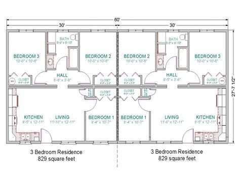 Duplex With Garage Plans by 3 Bedroom Duplex Floor Plans 2 Bedroom Duplex With Garage