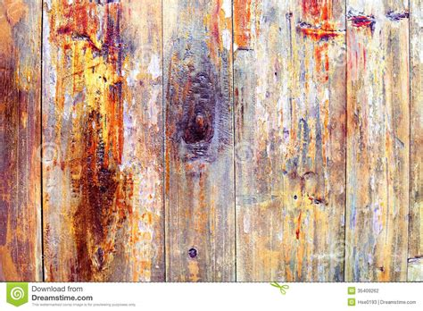 colored wood peeling paint stock photography image