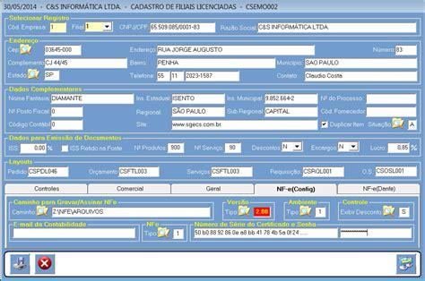 layout chave nfe como configurar cadastro da filial para emiss 227 o de nfe