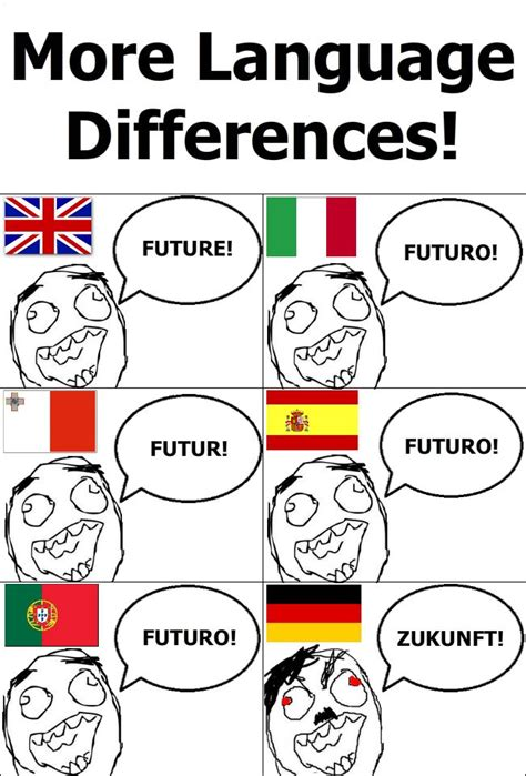 Language Memes - more language differences alles deutsch pinterest