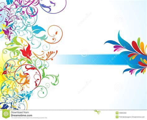 colorful floral design background illustrator vector abstract colorful floral background stock vector