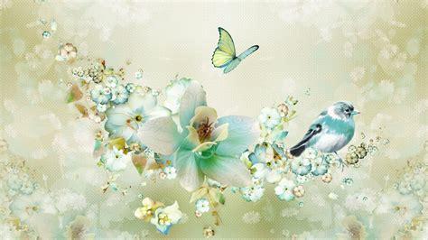 Chandelier Trees Birds Amp Butterflies Wallpaper Wallpapersafari