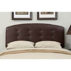 brown leather size tufted headboard ebay