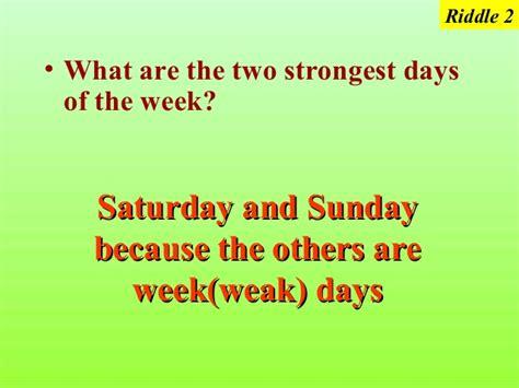 name of the days in week brain teaserfun r1