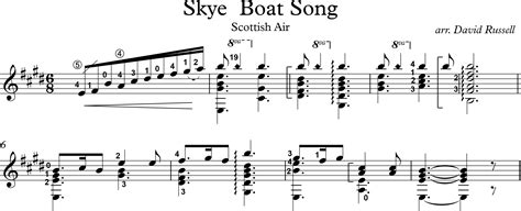 skye boat song music notes guitarist maximize your sight reading skills part 2