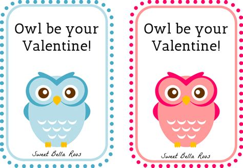 printable owl card free valentine s day printables owl be your valentine