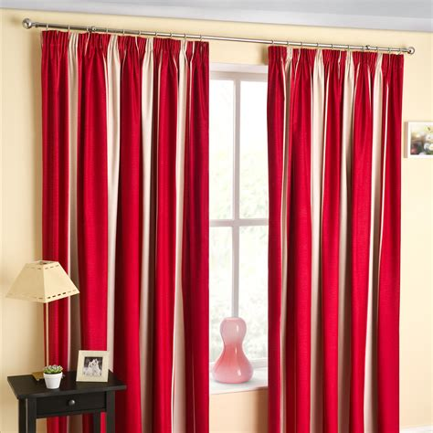 red curtains and window treatments in the interiors living decoration chic double red curtains with window valance