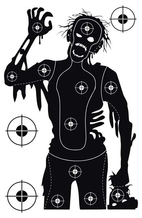printable zombie animal targets free printable shooting targets for pistol rifle airgun