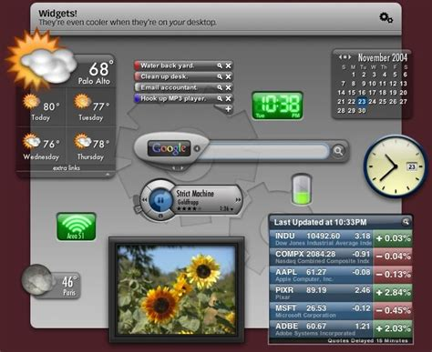 yahoo widget layout yahoo widget engine 3 1 5 review and download