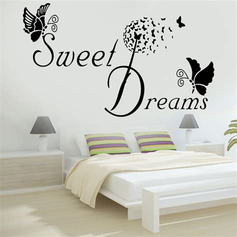 wall decals rooms sweet dreams butterfly quote wall stickers bedroom removable decals diy ebay