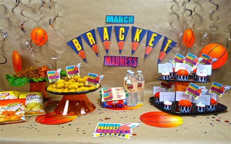 party themes in march 5 march bracket party ideas with free printable