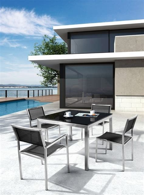 h64 modern 5 patio dining set