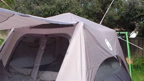 instant awnings coleman instant up 6man tent first impressions youtube