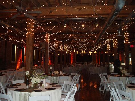 beautiful winter wedding reception venue with sparkling