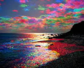 colored clouds rainbow colored clouds sky