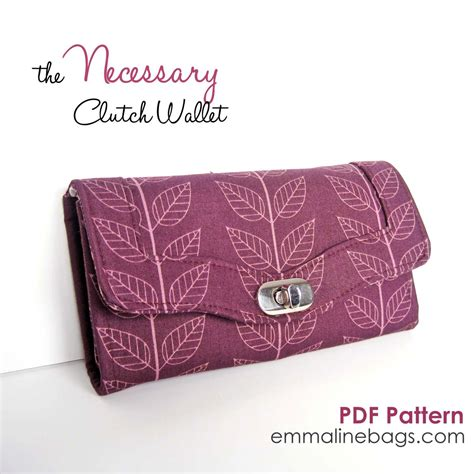 pattern sewing wallet the necessary clutch wallet sewing pattern a by emmalinebags