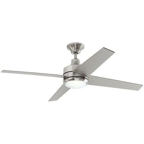 ceiling fan led home decorators collection railey 60 in brushed nickel