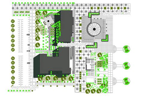 landscape layout cad landscaping dwg models free download