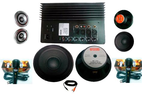 Kit Audio kit completo audio lificador 2 woofer ideal para