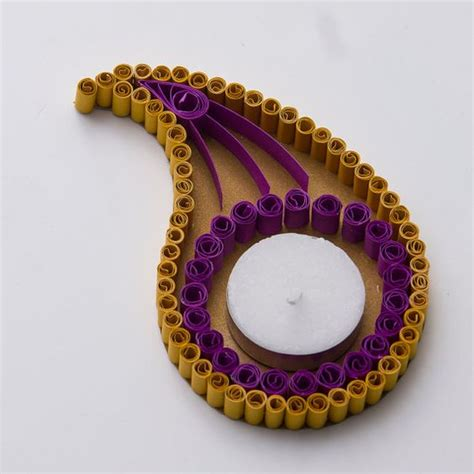 quilling diya tutorial quilling candle and diya stand decoration ideas for diwali