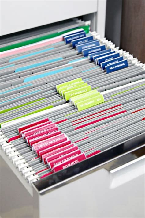 Iheart Organizing Filing Cabinet Organization Especially Helpful With The Label Template For Hanging File Folder Label Template