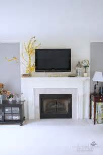 tv fireplace and media storage great room