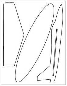 balsa glider template of chuck glider