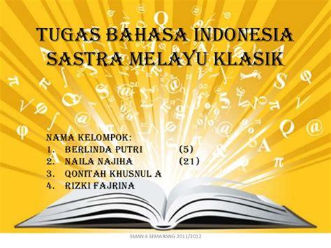 tugas bahasa indonesia nur silviani soraya presentasi unsur cerita melayu klasik hikayat indraputra