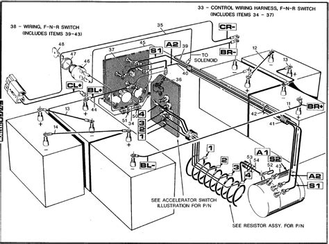 wiring diagram for ez go golf cart with on wiring diagram