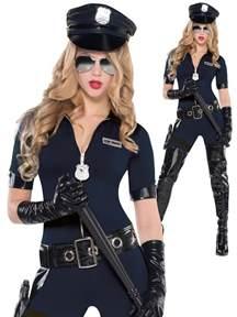 ladies police women costume all ladies fancy