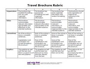 Brochure Rubric Template by Pin Travel Brochure Rubric 2 On