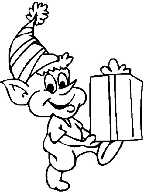 printable elf coloring picture elf coloring pages