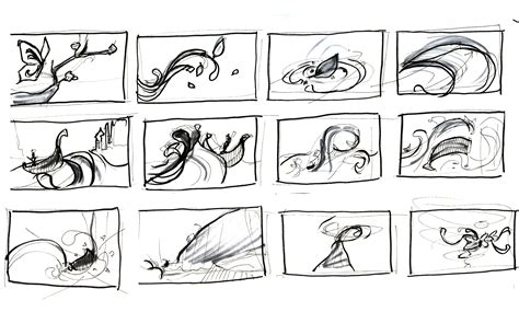 storyboard sketch the butterfly effect project