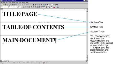 what is a section break in microsoft word sections headers and footers in microsoft word a