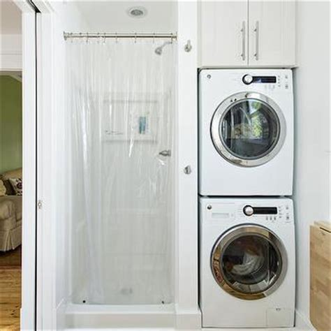 bathroom with washer and dryer stacked washer and dryer design ideas