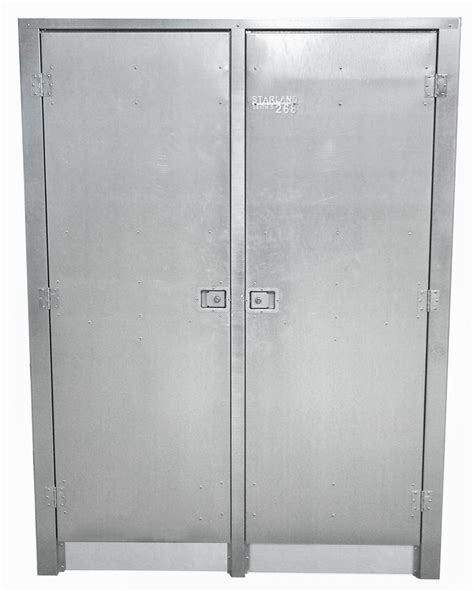 metal cabinet with doors industrial galvanized steel storage cabinet 248 starland