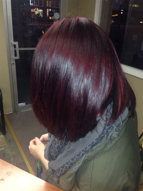 haircolor styles withn burgundy accents 1000 images about burgundy hair color on pinterest