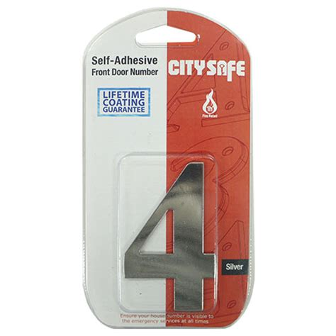 Adhesive Door Mirror - mirror polished 3 inch self adhesive door numbers and letters