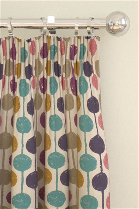 scion ready made curtains taimi damson azure and stone tab top curtains by scion