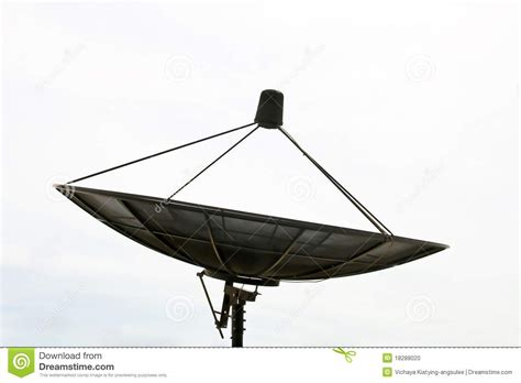 big satellite big black satellite stock photo image 18288020