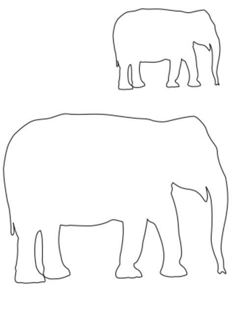 elephant template printable elephant template clipart best