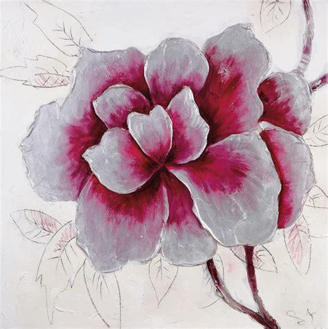 Tableau En Toile by Tableau Peinture Toile Fleurs