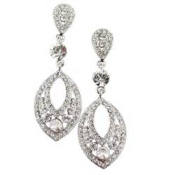 Teardrop Chandelier Earrings Moonlight Clear Crystal Chandelier Earrings Bridal