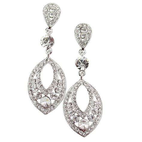 chandelier earrings moonlight clear chandelier earrings bridal
