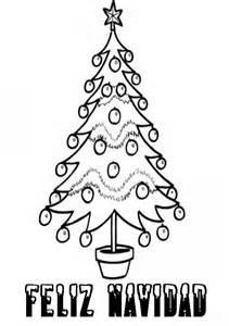 pin para colorear de navidad arbol y leyenda feliz dibujos