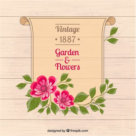 new year flower poster garden and flowers poster vector free