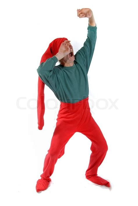 printable elf arms elf stretching his arms stock photo colourbox