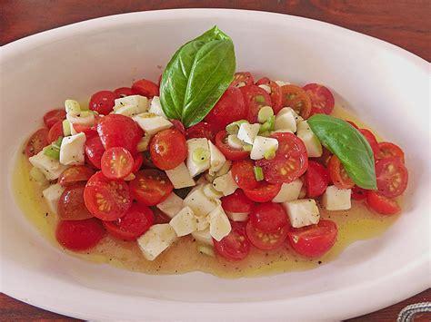 Tomate Mozzarella Schön Anrichten by Tomatensalat Mit Mozzarella Rezept Mit Bild Melly3