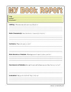 4th Grade Book Report Templates Book Report Outline 6th Grade Affordable Price
