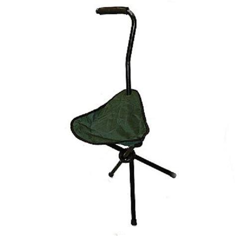 walking stick folding chair ideal fishing stool tripod